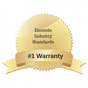 our warranty exceeds industry standards
