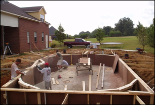 New Pool Construction Fiberglass Swimming Pool Resurfacing
