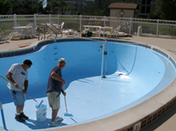 Epoxy paint failure stories fiberglass swimming pool resurfacing for Epoxy coating for swimming pools